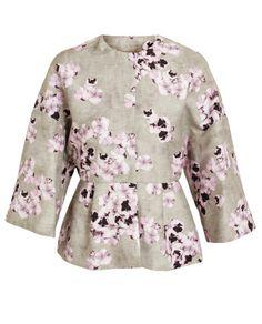 GIAMBATTISTA VALLI   Floral Printed Cotton-Blend Jacket