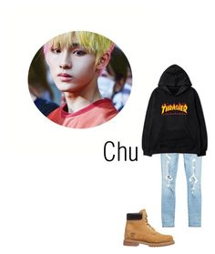 """""""Chu's Audition for Heart Ent."""" by fu51on8 ❤ liked on Polyvore featuring Timberland, AMIRI, men's fashion and menswear"""