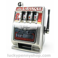 LeBanque Carousel Slot Machine Toy Bank www.luckypennyshop.com