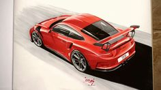 Porsche Car Drawings, Automotive Art, Porsche, Cars, Vehicles, Sports, Drawings Of Cars, Hs Sports, Autos