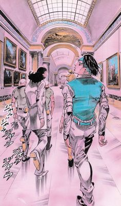 へ行く(Rohan At the Louvre . Jojo Bizarre, Bizarre Art, Jojo's Adventure, Jojo Bizzare Adventure, Manga Art, Manga Anime, Anime Art, Animes Wallpapers, Cute Wallpapers