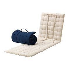 HÅLLÖ Liegeauflage - beige/blau - IKEA