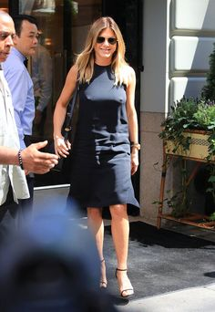 14 Stars Who Have Been In on the Braless Trend For a Long Time Jennifer Aniston Letting a black sheath dress speak for itself in 2016.