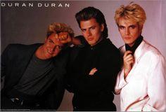 Duran Duran (post-Roger Taylor) - still have this poster. John Taylor, Roger Taylor, Nick Rhodes, Simon Le Bon, Great Bands, Cool Bands, Birmingham, Uk Singles Chart, New Wave