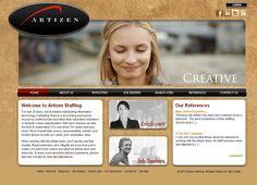 Artizen Staffing is focused primarily on creative-type jobs, along with a diversified list of other professional positions.