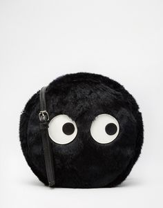 The White Pepper Face Across Body Bag with Faux Fur
