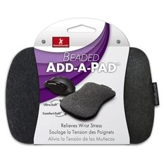 HandStands 55510 Beaded Add-A-Pad Wrist Cushion for Computer Mouse, Gray, 2 Pack Office Supplies List, Amazon Electronics, Stress, Best Computer, Computer Mouse, Hand Wrist, Office Items, Pad, Computer Accessories