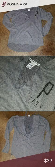 PINK Victoria Secret Hoodie PINK Victoria Secret Hoodie. Never worn. Super soft pullover. PINK Victoria's Secret Tops