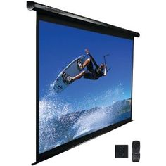 #6: Elite Screens ELECTRIC125H Electric Projection Screen (125-Inch 16:9 AR).