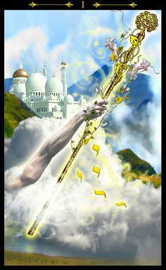 As de bâtons - Tarot Illuminati par Erik Dunne