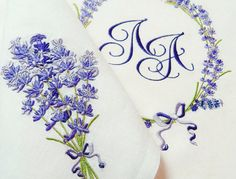 Machine Embroidery Design  Fragrant lavender 2