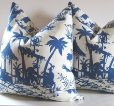Chinoiserie Pillow Cover 20inch Decorative by studiotullia