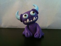 Little Cute polymer clay monster charm
