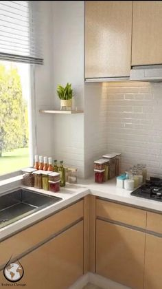 Kitchen Room Design, Home Room Design, Modern Kitchen Design, Home Decor Kitchen, Kitchen Interior, Home Kitchens, Small Kitchen Furniture, Kitchen Logo, Modern Kitchen Sinks