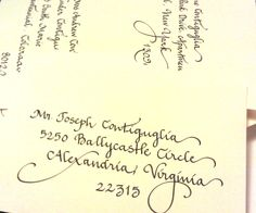 """My """"Calligraphy"""" writing style.  www.calligraphybycarrie.com"""