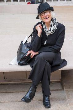 Mature fashion, grey fashion, over 50 womens fashion, fashion over 40 Mature Fashion, Older Women Fashion, Fashion For Women Over 40, Grey Fashion, Fashion Outfits, Fashion Trends, Fashionable Outfits, Fashion Fashion, Fashion Quotes