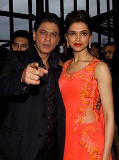 Shah Rukh Khan, Deepika Padukone In London to promote Chennai Express #Bollywood #Fashion