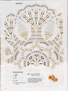 Med size busy work doily diagram