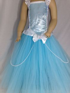 Disney's Cinderella inspired tutu dress pageant Halloween parties 2T-age 10 #PjsDreams