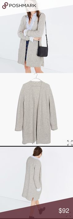 Madewell waffle-stitch cardigan sweater Worn once! ✨✨  PRODUCT DETAILS A refined take on the forever-favorite cardigan sweater in a cozy waffle stitch. A morning-to-midnight layering piece with a minimalist feel.  True to size. Nylon/wool/alpaca/spandex. Hand wash. Madewell Sweaters