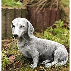 Garden ornament Dachshund, made of stone, frost resistant