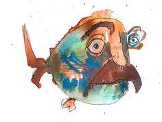 Fishloe (self portrait underwater) http://ift.tt/2as15Q2 Art watercolor acrylic doodle art painting artistsoftumblr watercolor