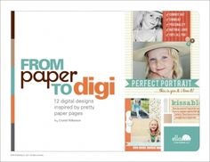 From Paper to Digi  Digital designs inspired by pretty paper pages