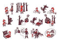 Little red riding hood - stories without words by Karitas Palsdottir, via Behance