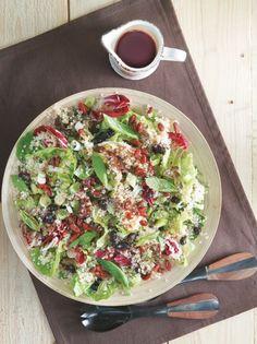 21131007_00970_antioksidotiki-salata-me-kinoa Vegan Vegetarian, Vegetarian Recipes, Healthy Recipes, Healthy Nutrition, Healthy Eating, Glazed Vegetables, Salad Bar, Greek Recipes, Vegetable Pizza
