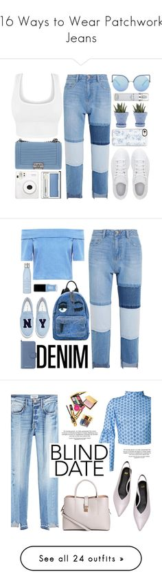 """""""16 Ways to Wear Patchwork Jeans"""" by polyvore-editorial ❤ liked on Polyvore featuring patchworkjeans, waystowear, Steve J & Yoni P, adidas, Chanel, Matthew Williamson, Casetify, Clinique, Chive and Kenneth Cole"""
