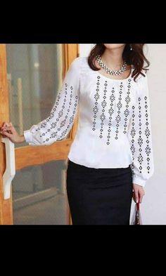 Blouse, Long Sleeve, Sleeves, Tops, Women, Fashion, Blouse Band, Long Dress Patterns, Fashion Styles
