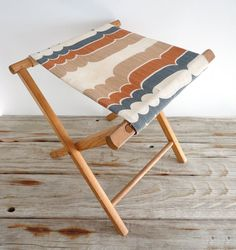 Extra storable seating - Retro Wooden Folding Camp Stool