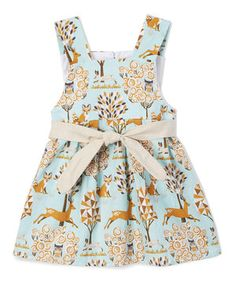 Another great find on #zulily! Caught Ya Lookin' Light Blue & Beige Deer Swing Dress - Infant & Toddler by Caught Ya Lookin' #zulilyfinds