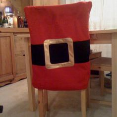 Chair Back Covers From Large Felt Gift Bags ($2.99 Michaels). Take The Bag