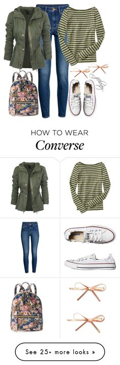 """""""Team School"""" by jfcheney on Polyvore featuring Converse, T-shirt & Jeans and Forever 21"""