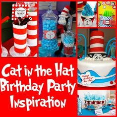 Dr Seuss' Cat-In-The-Hat Party Inspiration