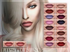 Beautiful matte lipstick for your sims!  Found in TSR Category 'Sims 4 Female Lipstick'