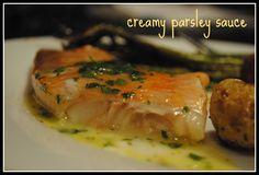white fish with white wine & lemon sauce