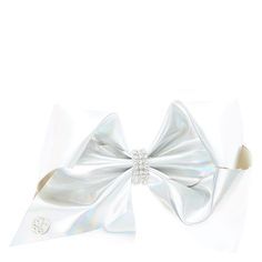 """<P>Our next style of JoJo's Bows include these shiney metallic colored bows. Each with a holographic shine and embellished with rhinestones in the center! </P><P><STRONG>Bow</STRONG> by <STRONG>JoJo Siwa©</STRONG></P><UL><LI>W 7"""" <LI>Also available in metallic pink</LI></UL>"""