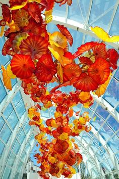 Dale Chiluly's Glass Art Exhibit opened today at the Seattle Center.  If you are in Seattle - a must see!
