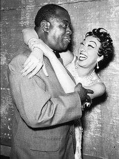Louis Armstrong and Josephine Baker, 1959---- PRICELESS!....
