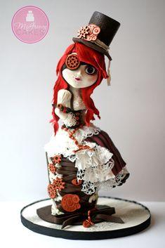 Steampunk Doll Cake With Progress Pics!