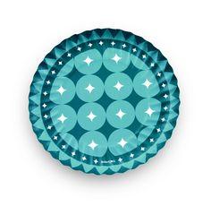 Prato de Papel Cores Azul Turquesa