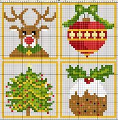 Ponto cruz: Natal Gráficos Ponto Cruz
