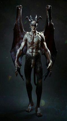 LITTLE DEVIL Ange Demon, Demon Art, Arte Horror, Horror Art, Fantasy Creatures, Mythical Creatures, Vampires, Dark Artwork, Fantasy Monster