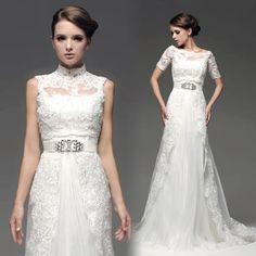 Strapless 30s Style Lace Wedding Dresses With Fashion Jaceket