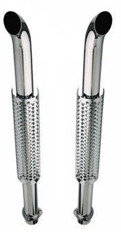 "Truck Exhaust Stacks 3.00"" Diameter X 50"" Long 3.00"" Flanged Inlet Chrome Plated W30050-300-TSCPS Wesdon Truck Stacks"