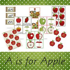 A is for Apple Preschool and Kindergarten Free Printable Pack! from Our Country Road