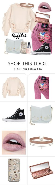 """Ruffles are the New black🐻💋"" by millymeyer ❤ liked on Polyvore featuring STELLA McCARTNEY, Marc Jacobs, Converse, Ted Baker, Miss Selfridge and Urban Decay"
