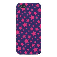 Pretty Pink Purple Star Pattern iPhone 5 Case